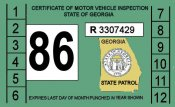 1986 Georgia Inspection sticker