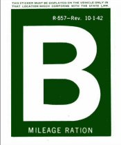 1942 Gas Ration Sticker B