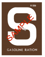 1942 Gas Ration Sticker S