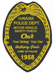 1958 Hawaii Inspection sticker