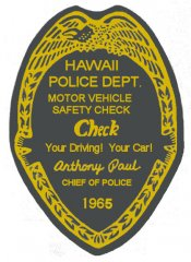 1965 Hawaii Inspection Sticker
