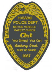 1967 Hawaii Inspection Sticker