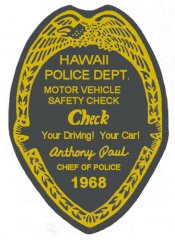 1968 Hawaii Inspection Sticker