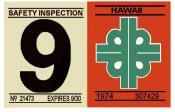 1974-75 Hawaii inspection sticker