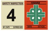 1975-76 Hawaii inspection sticker