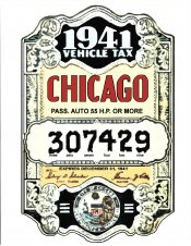 1941 Illinois tax inspection sticker (CHICAGO)