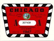 1947 Illinois tax/inspection sticker CHICAGO