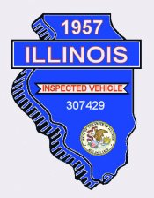 1957 Illinois Safety Check Inspection sticker