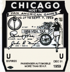 1959 IL inspection/tax sticker CHICAGO