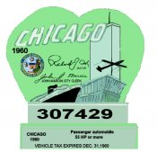 1960 IL inspection/tax sticker CHICAGO