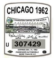 1962 Illinois Inspection registration CHICAGO