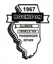 1967 Illinois Safety Inspection Sticker ROCTON