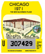1971 Illinois Tax Inspection sticker (Chicago)