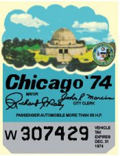 1974 IL Tax inspection sticker ( CHICAGO)