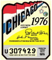1976-77 Illinois Inspection sticker