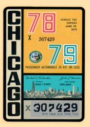 1978-79 IL tax Inspection sticker CHICAGO
