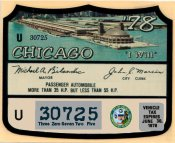 1978 IL tax Inspection sticker CHICAGO