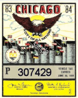 IL 1983-84 Illinois tax inspection CHICAGO - Click Image to Close