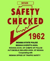 1962 Indaina Safety Check INSPECTION sticker