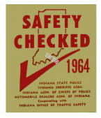 1964 Indiana Safety Check Inspection Sticker