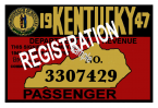 1947 Kentucky Registration/Inspection sticker