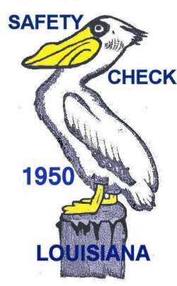 1950 Louisiana Safety Check inspection sticker