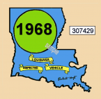 1968 Louisiana inspection sticker