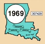 1969 Louisiana inspection sticker