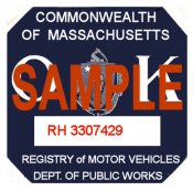 1936 Massachusetts FALL INSPECTION Sticker