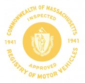 1941 Massachusetts SPRING INSPECTION Sticker