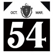 1954 Massachusetts FALL Inspection Sticker