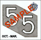 1955 Massachusetts FALL INSPECTION Sticker