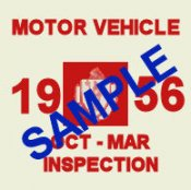 1956 Massachusetts Fall INSPECTION Sticker