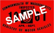 1961 Massachusetts SPRING INSPECTION Sticker
