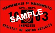 1963 Massachusetts SPRING INSPECTION Sticker
