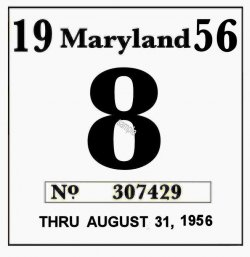1956 Maryland Inspection sticker