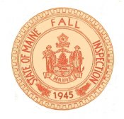 1945 Maine Fall Inspection Sticker