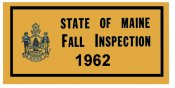 1962 Maine FALL Inspection Sticker