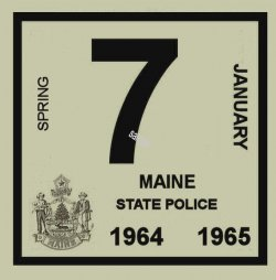 1964 Maine Inspection Sticker SPRING