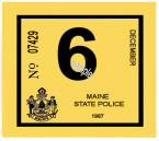 1967 Maine SPRING INSPECTION sticker
