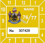 1976-77 Maine Inspection sticker