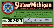 1936-37 Michigan Registration/Inspection sticker
