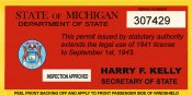 1941-42 Michigan tax inspection sticker