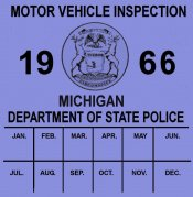 1966 Michigan inspection sticker