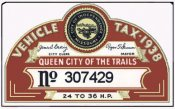 1938 MO Tax Registration Inspection Sticker Independence