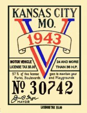 1943 MO tax/inspection sticker Kansas City