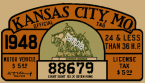 1948 Missouri Registration inspection Sticker KC