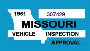 1961 M1ssouri inspection sticker