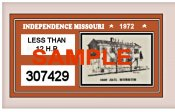 1972 Missouri Independence registration
