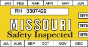 1974-76 Misouri inspection sticker